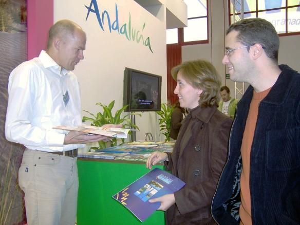Mostrador de FAC en el stand de Andalucía 2012